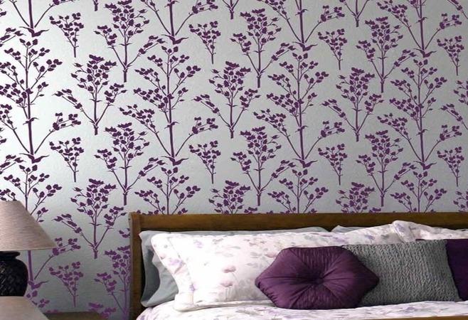 Çiçek Desenli Yatak Odası Boyası