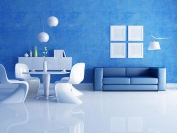 Buz Mavisi ve Beyaz Rengin Uyumu