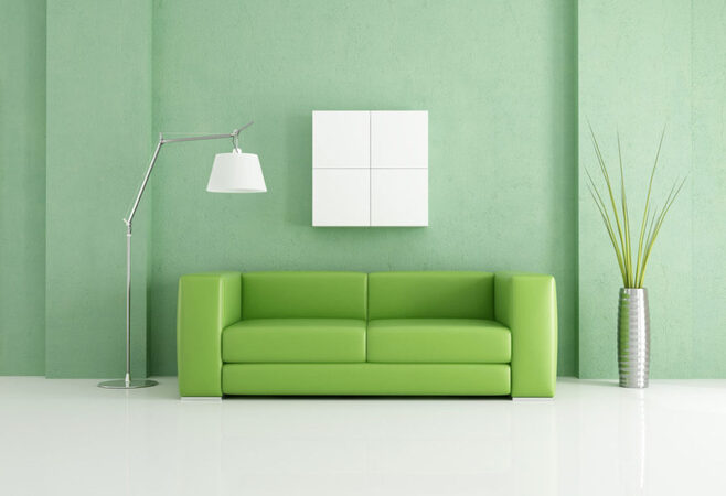 zümrüt yeşili oturma odası